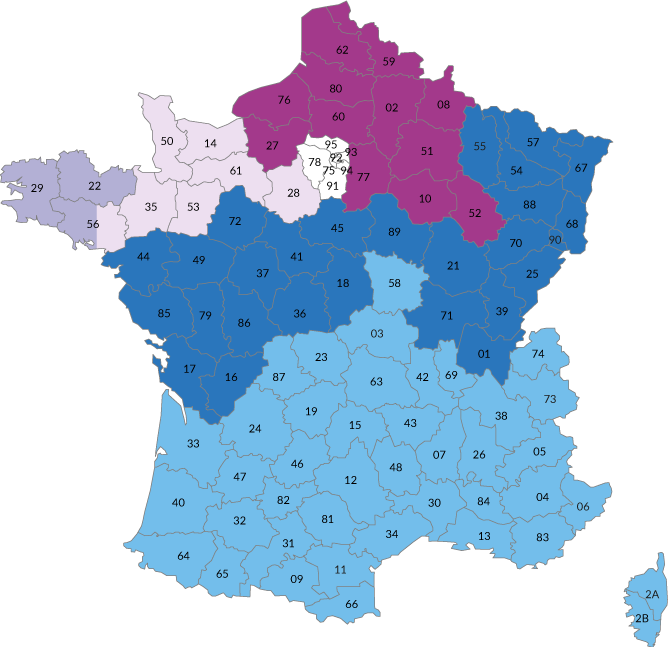 carte France commerciaux